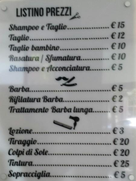Costo taglio capelli roma